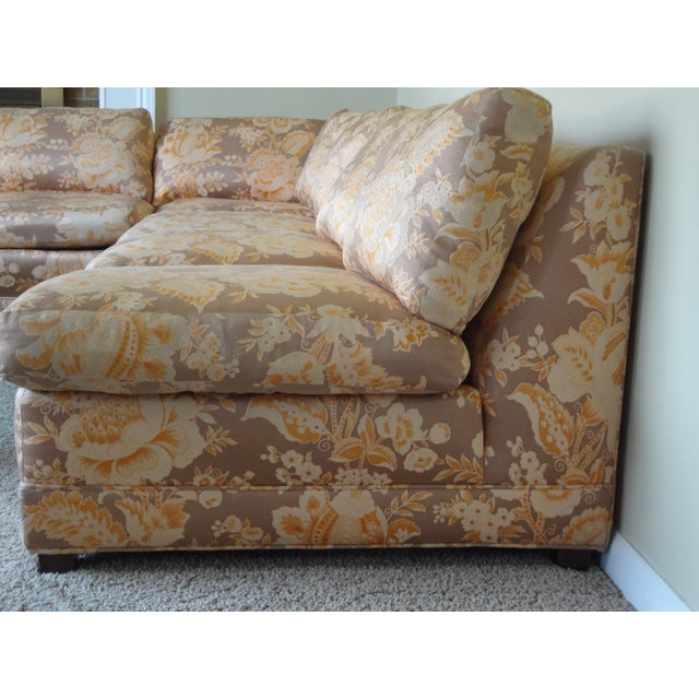 Baker Furniture Armless Sectional Sofa - 3 Pieces - Image 3 of 10