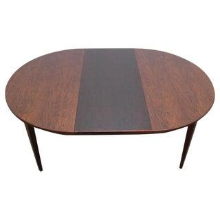 Circular Rosewood Dining Table by Gunni Omann for Omann Jun