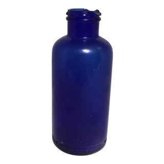 Deep Cobalt Blue Apothecary Bottle