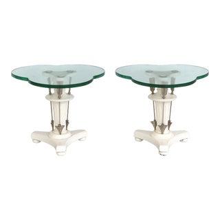 Grosfeld House Style Trefoil Side Tables - A Pair