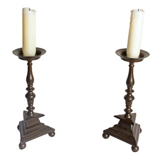 Bronze Candlesticks - A Pair