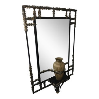 John Richard Black Wrought Iron Mirror