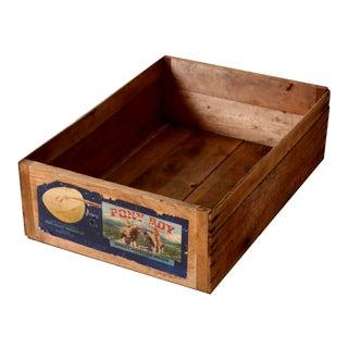 Vintage Pony Boy Melon Fruit Box