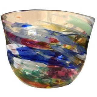 """Peter Zelle """"Shard"""" Art Glass Bowl"""