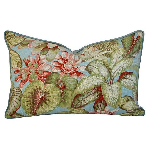 Lush Botanical Linen & Velvet Pillows - Pair - Image 3 of 7