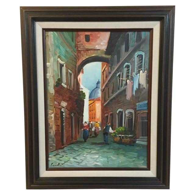 """Roma"" Vintage 1985 Original Oil Painting - Image 1 of 6"