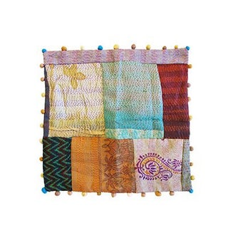 Vintage Indian Sari Pillowcase