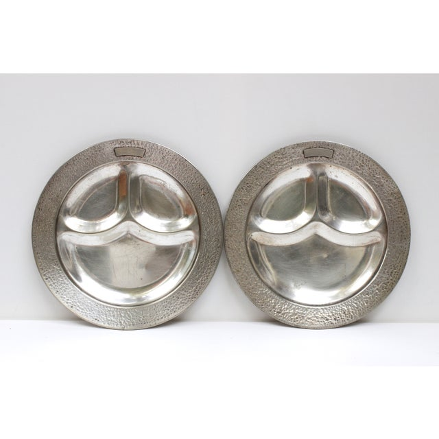Image of Cecilware Vintage Divided Plates With Monogram