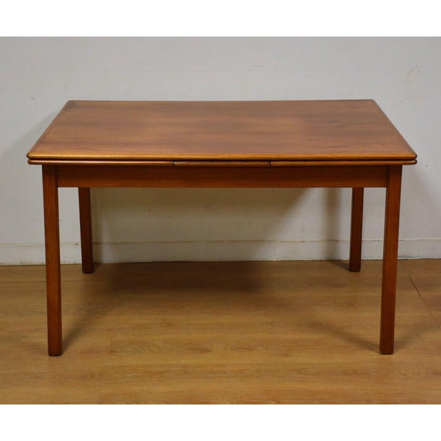 Small teak draw leaf dining table chairish for Small dining table with leaf