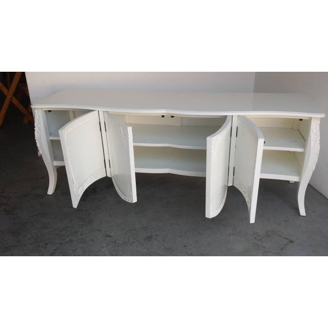 French Provincial Farmhouse Style White Buffet - Image 7 of 7