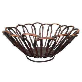 Bamboo Dark Wood Basket