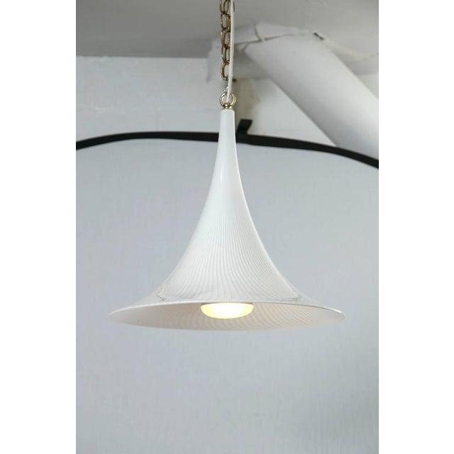 Murano Swirl Glass Cone Pendant Light - Image 2 of 7