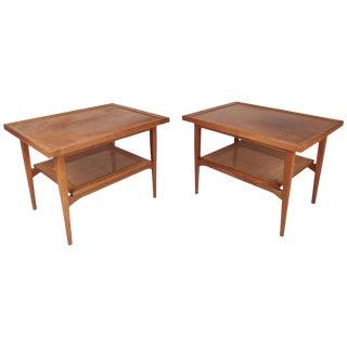 Drexel Declaration Mid-Century Modern End Tables - A Pair