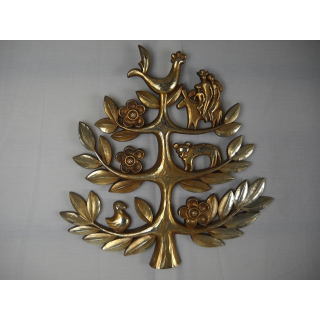 "Syroco Vintage ""Tree of Life"" Plaque - Image 3 of 8"