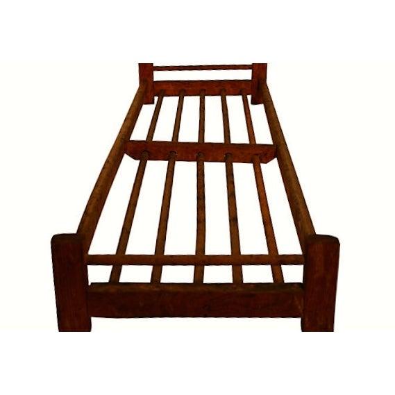 Wooden Dowel Industrial Shoe Rack - Image 3 of 3