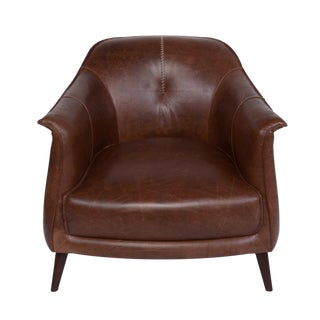 Chestnut Leather Gum Drop Chair