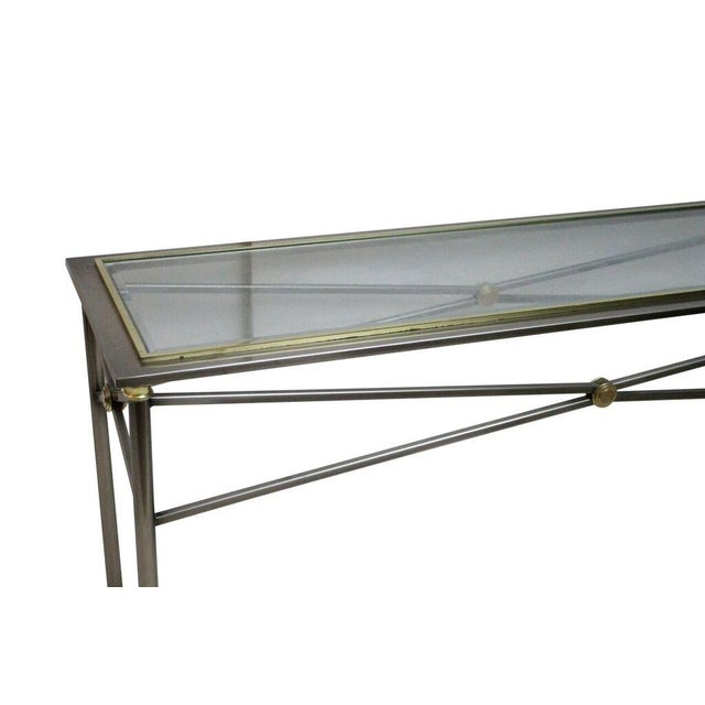 Stainless Steel & Brass Console - Image 2 of 3