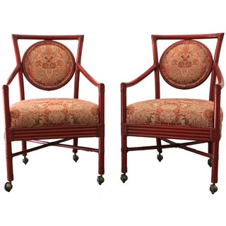 McGuire Bamboo Accent Chairs - a Pair