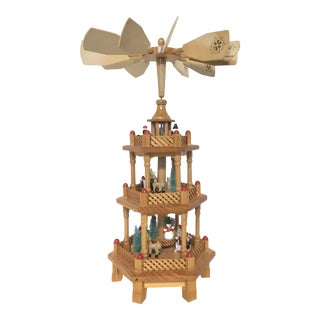 German Style Christmas Windmill Carousel Pyramid