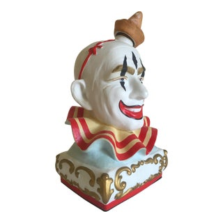 Vintage Mid-Century Ceramic Clown Head Bottle