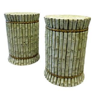 Italian Mid Century Ceramic Stools / Sidetables - A Pair