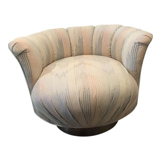 Mid-Century Milo Baughman Style Swivel Tub Chair