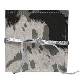 Hand Crafted Cowhide and Leather Coasters