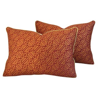 Custom Italian Mariano Fortuny Simboli Feather/Down Pillows - Pair