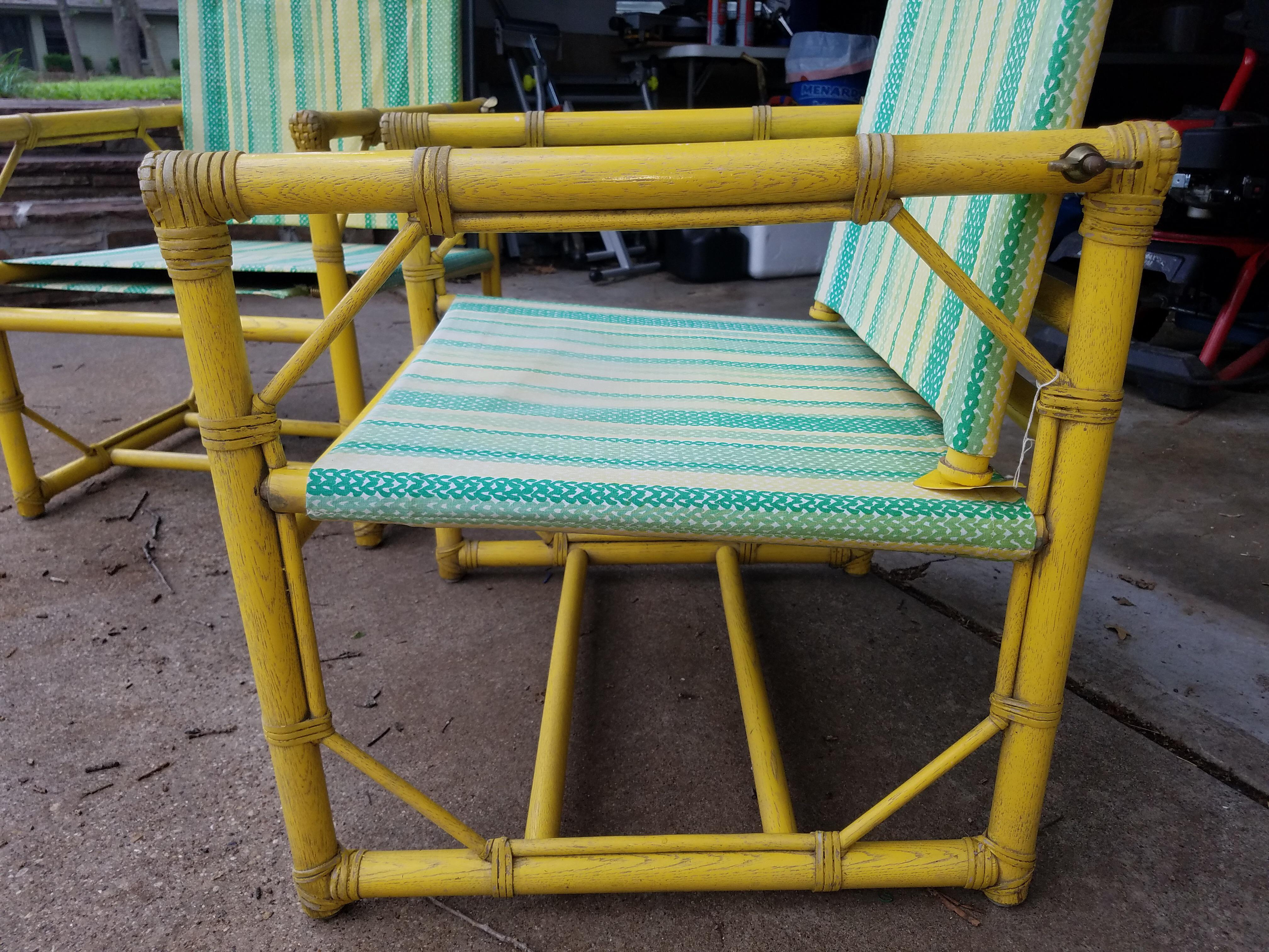 McGuire Furniture Rattan Patio Chairs   A Pair   Image 3 Of 9