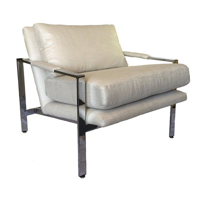 Milo Baughman Chrome Lounge Chair - Image 1 of 6