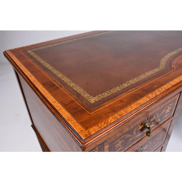 Antique Edwards & Roberts English-Style Desk - Image 9 of 11