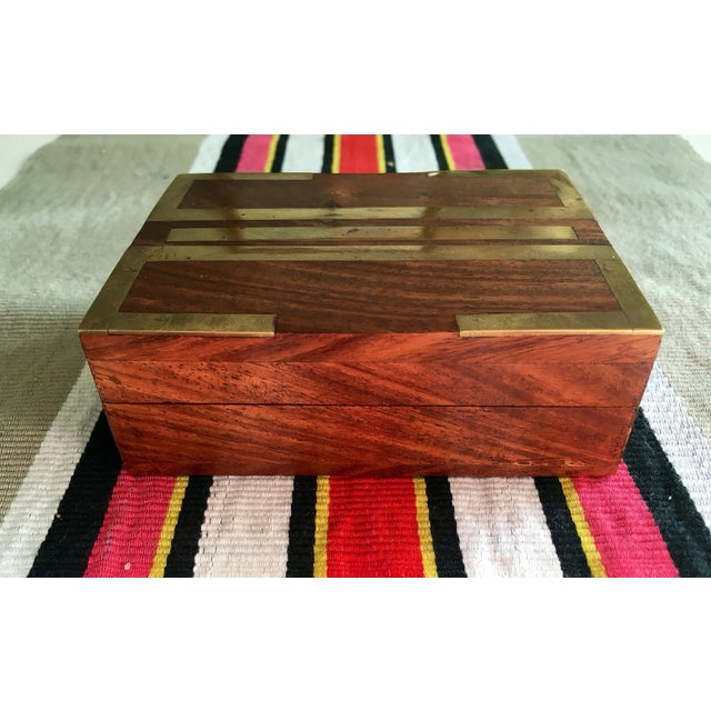 Wood Box With Brass Inlay - Image 5 of 8