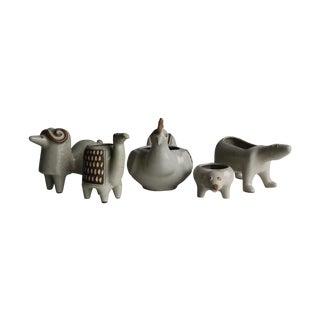 David Stewart Ceramic Animal Planters