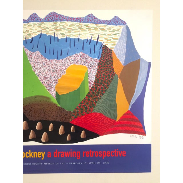 Vintage 1996 David Hockney Original Lithograph Lacma Exhibition Pop Art Poster - Image 3 of 11