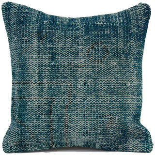 Handmade Turquoise Overdyed Rug Pillowcase & Pillow Cover