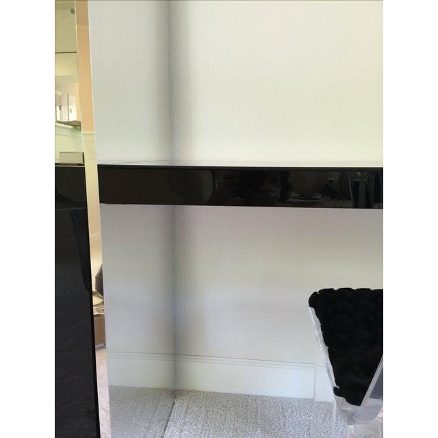 Ello Black Glass Curio Cabinet Desk - Image 11 of 11