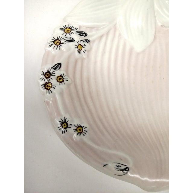 Mid-Century Pink & White Trinket Dish - Image 9 of 9