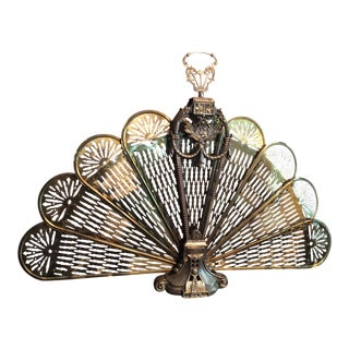 Vintage Brass Fireplace Fan