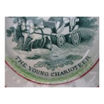 Image of English Transferware Abc Horse & Buggy Plate