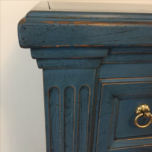 Drexel Heritage Blue Armoire - Image 10 of 11