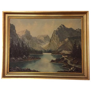 French Oil Painting in Frame