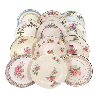 Vintage Mismatched Dessert Plates - Set of 12