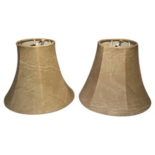 Faux Leather Sconce Shades - A Pair