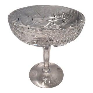 Vintage Cut Crystal Decorative Pedestal Bowl