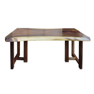 Raw Wood Rectangular Plank Table / Desk