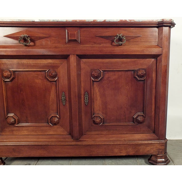Image of French 19th C. Louis Philippe Marble Top Server