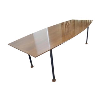 Florence Knoll Walnut Dining or Conference Table