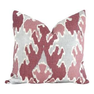 Magenta Ikat Pillow Cover