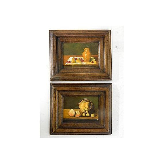 Image of French Still Life Paintings C. 1950 - Pair