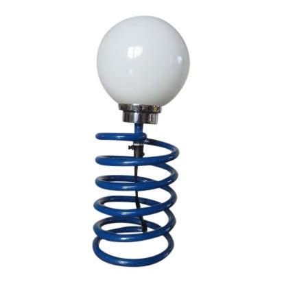 Image of Ingo Maurer Royal Blue Spring Lamp